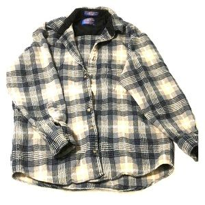 Pendleton Blue Virgin Wool Flannel